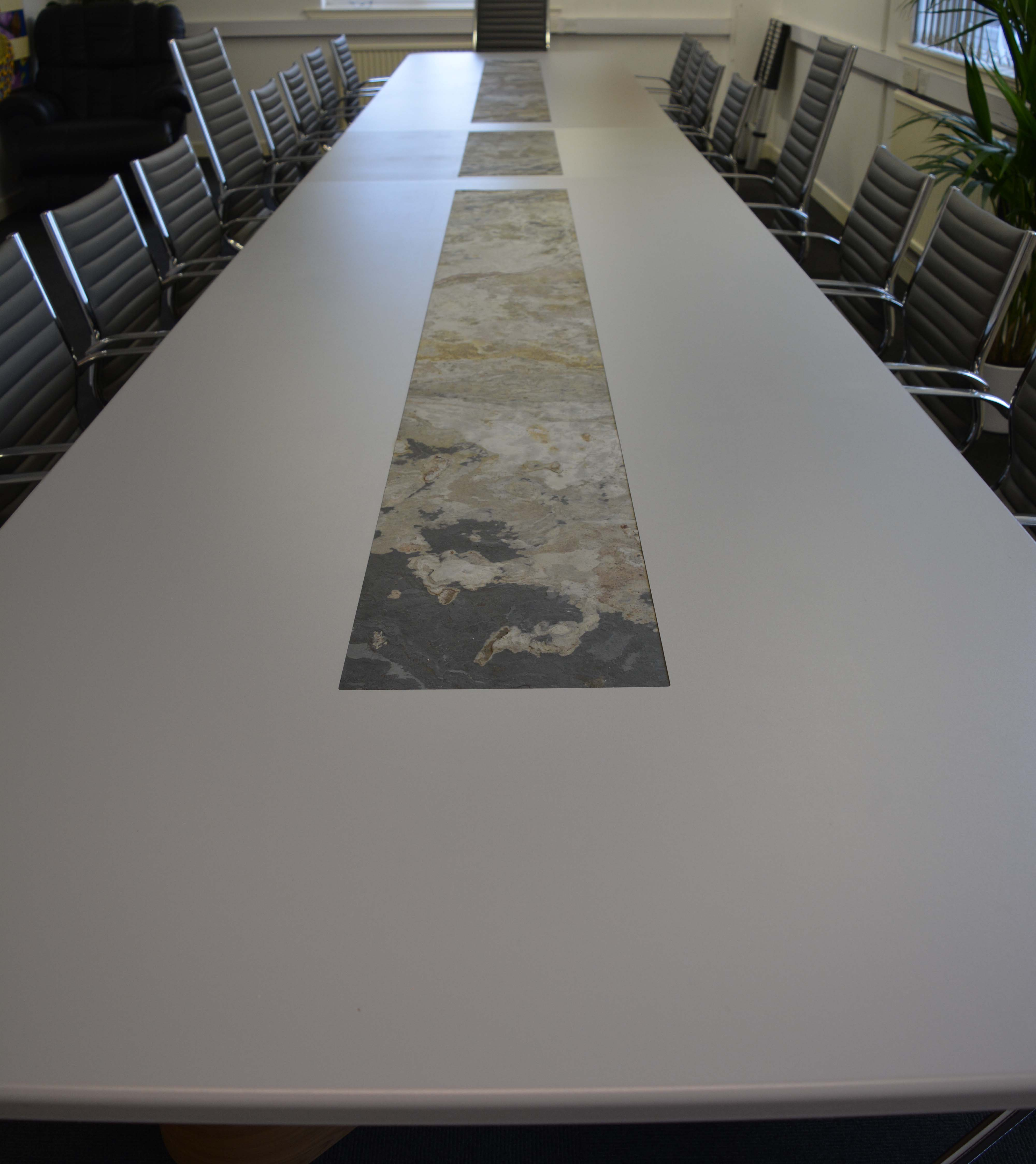 Stone Veneer Boardroom Table